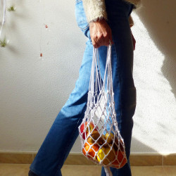 Macrame net bag NELLY pattern